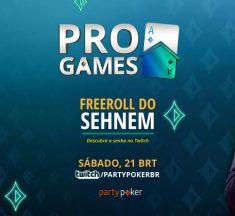 Freeroll do Sehnem distribui 500 dólares Gtd neste sábado; veja como participar
